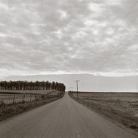 Grove Church Road with Clouds, Knox County, Ohio, 1990