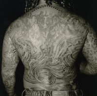 Back of a Biker, Motorcycle Rodeo, Ross County, Ohio, 1991