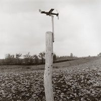 Airplane on Fence Post, Simmons Church Road, Knox County, Ohio, 1993